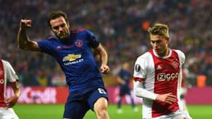 Juan Mata Joel Veltman Manchester United Ajax Europa League final