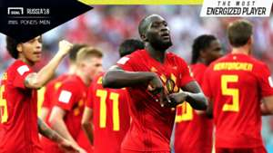 The Most Energized Player Belgia vs Panama Romelu Lukaku