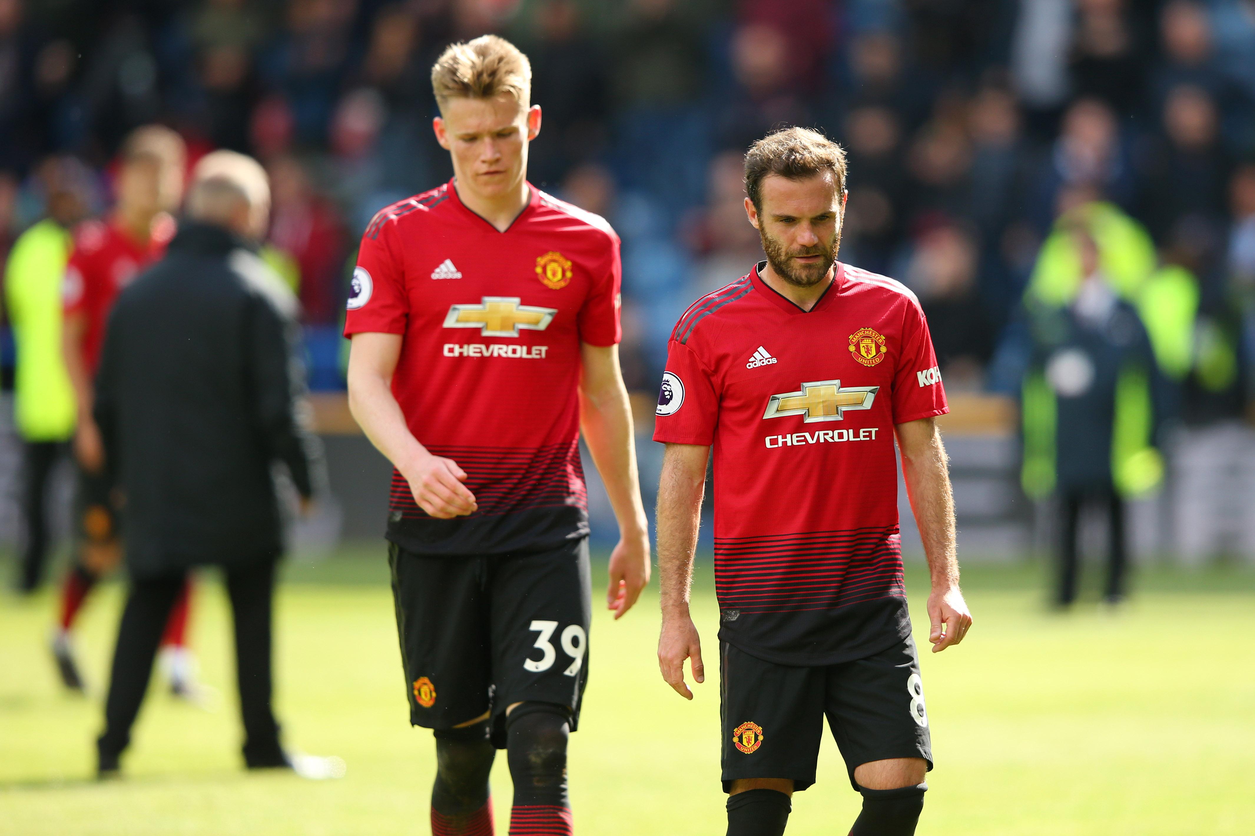 Scott McTominay Juan Mata Huddersfield Town Manchester United
