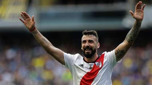 Lucas Pratto Boca Juniors vs River Plate Copa Libertadores final first leg 2018