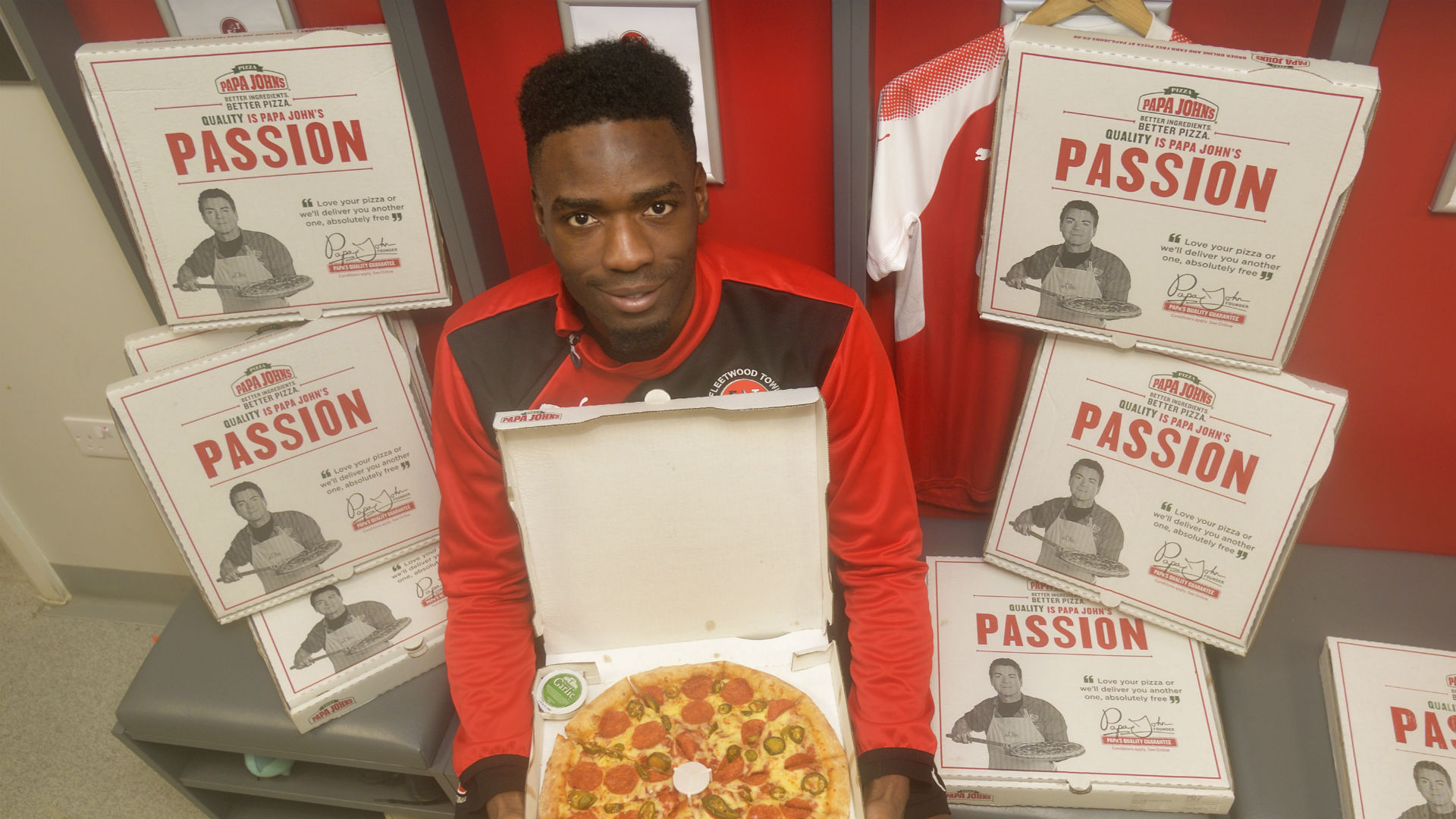 Devante Cole Fleetwood Papa Johns