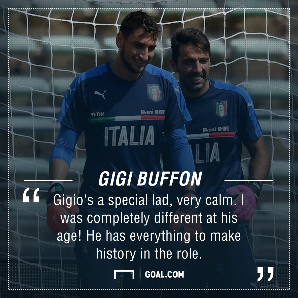 Gianluigi Donnarumma Gigi Buffon PS