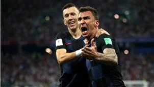 Mario Mandzukic Ivan Perisic Croatia Denmark World Cup 01072018