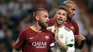 Sergio Ramos Daniele De Rossi Real Madrid Roma UCL 19092018