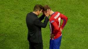 Antoine Griezmann Diego Simeone Atletico Madrid 27052016