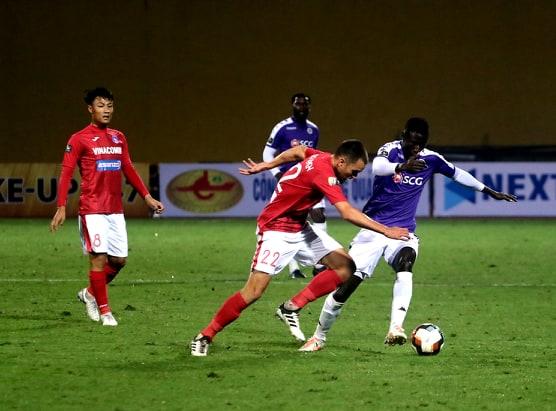 Pape Omar Faye Ha Noi vs Than Quang Ninh V.League 2019