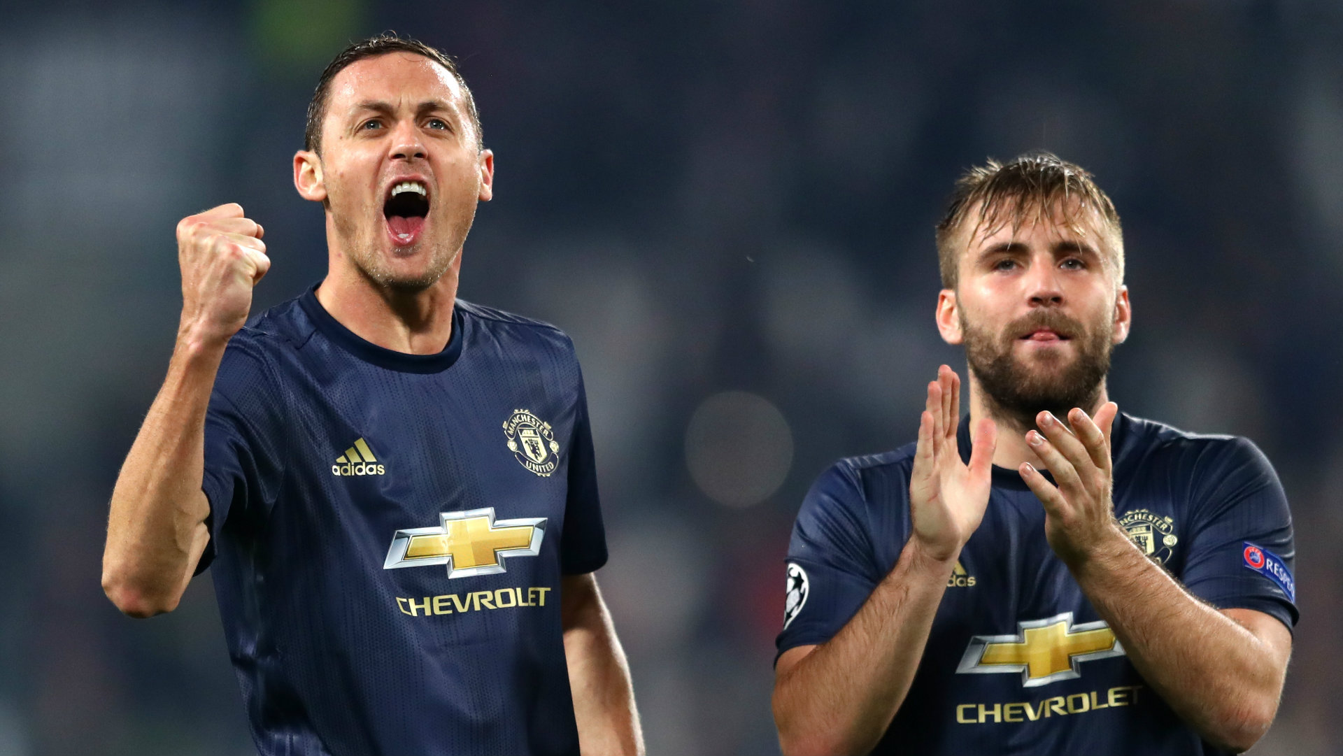 Nemanja Matic Luke Shaw Juventus Manchester United Champions League 2018-19