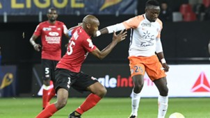Jeremy Sorbon Casimir Ninga Guingamp Montpellier  Coupe de la Ligue 24102017