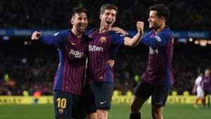 Sergi Roberto Lionel Messi Philippe Coutinho Barcelona Sevilla Copa del Rey 30012019