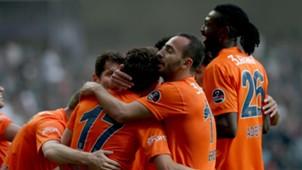 Basaksehir goal celebration Adebayor Cengiz Under