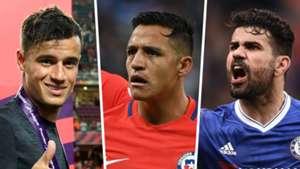 Philippe Coutinho Alexis Sanchez Diego Costa Premier League