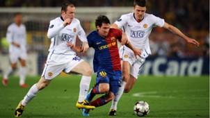 Michael Carrick Lionel Messi Wayne Rooney Barcelona Manchester United 09102018