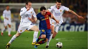 Michael Carrick Lionel Messi Wayne Rooney Barcelona Manchester United 09102018