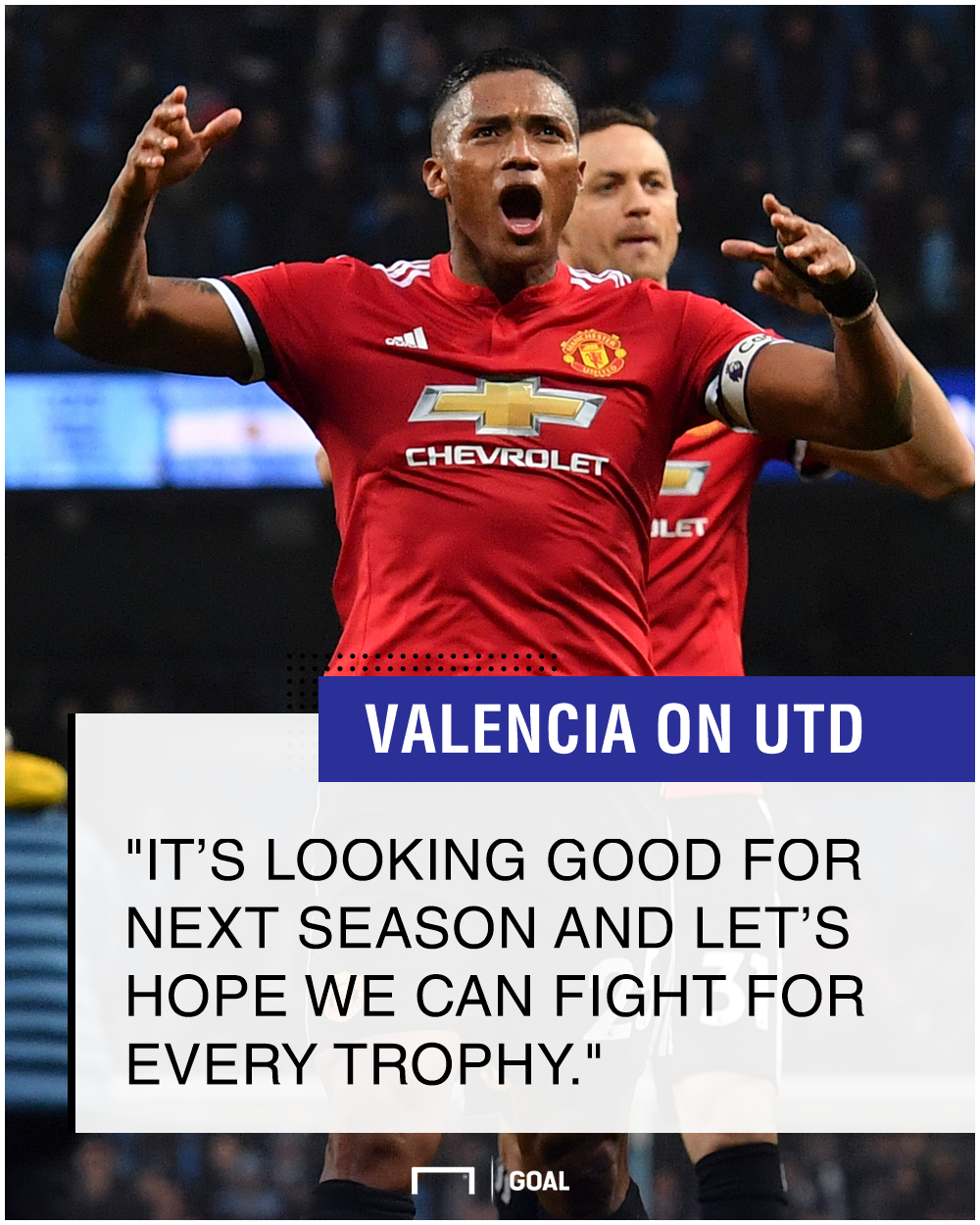 Antonio Valencia Manchester United challenge every trophy