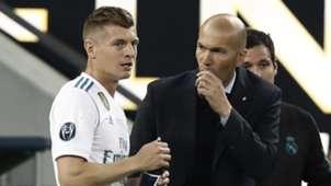 Toni Kroos Zinedine Zidane Real Madrid 2018