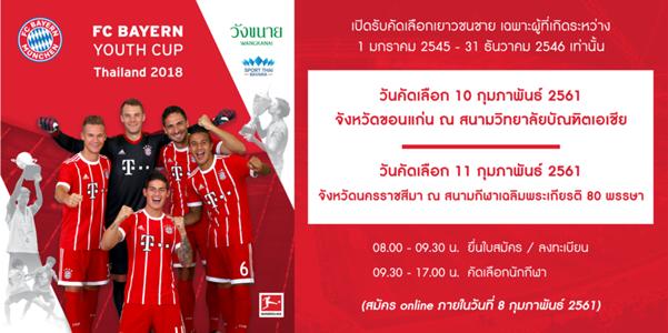 FC BAYERN YOUTH CUP THAILAND 2018