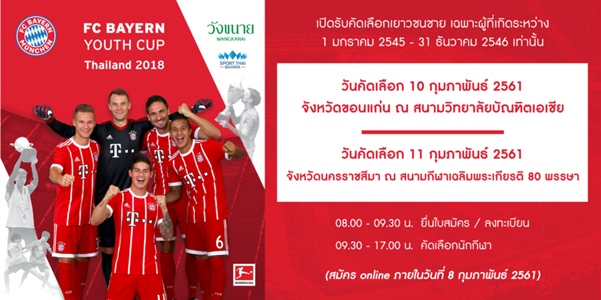 FC BAYERN YOUTH CUP THAILAND 2018