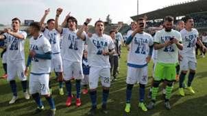 Brescia celebrating Serie B