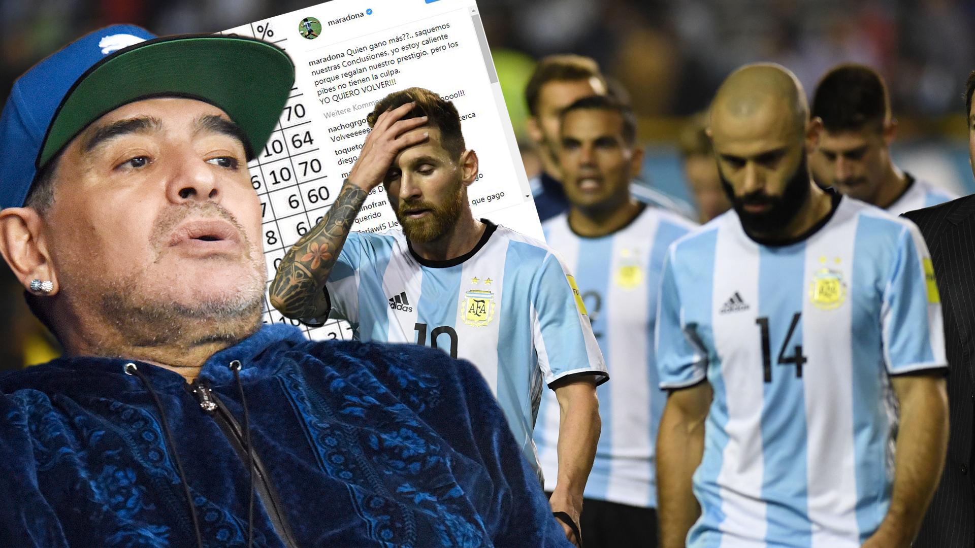 Rückkehr als Gaucho-Coach? Diego Maradona legt überzeugende Statistik vor