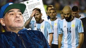 GFX Maradona Argentinien