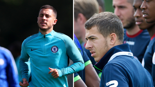 Eden and Kylian Hazard