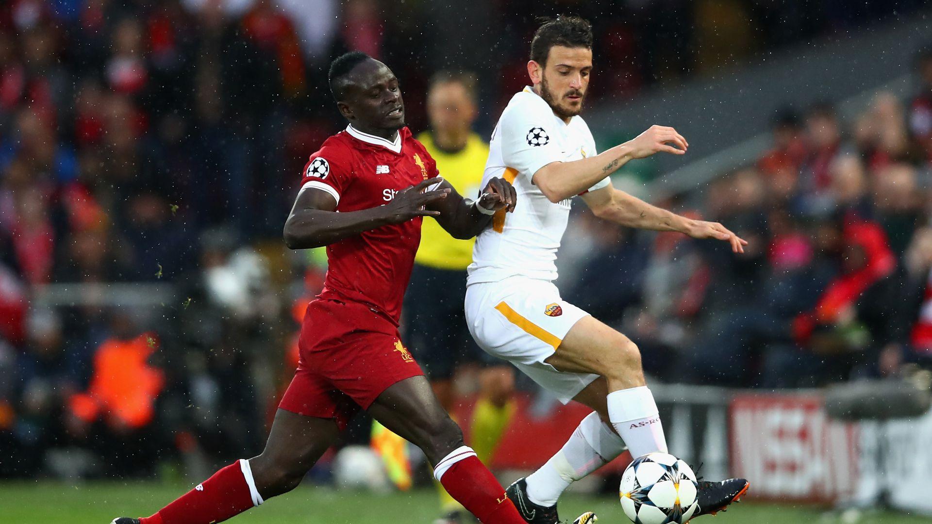 Sadio Mane Alessandro Florenzi Liverpool Roma