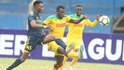 Edwin Lavatsa of Wazito v Mathare United.