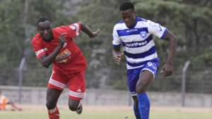 joackins Atudo and Vincent Oburu of AFC Leopards