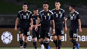 Giovanni Simeone Pity Martinez Paredes Argentina Guatemala Amistoso 08092018