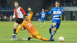 Justin Bijlow Vito van Crooij PEC Zwolle - Feyenoord 01192019