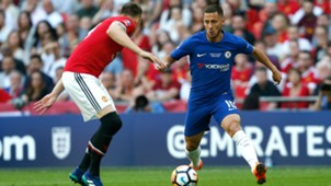 Eden Hazard FC Cup Chelsea Manchester United
