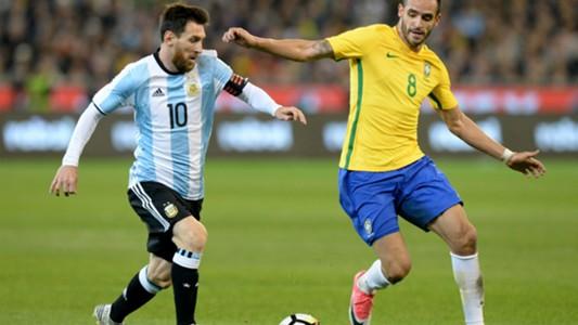 Leo Messi Brazil v Argentina Friendly09062017