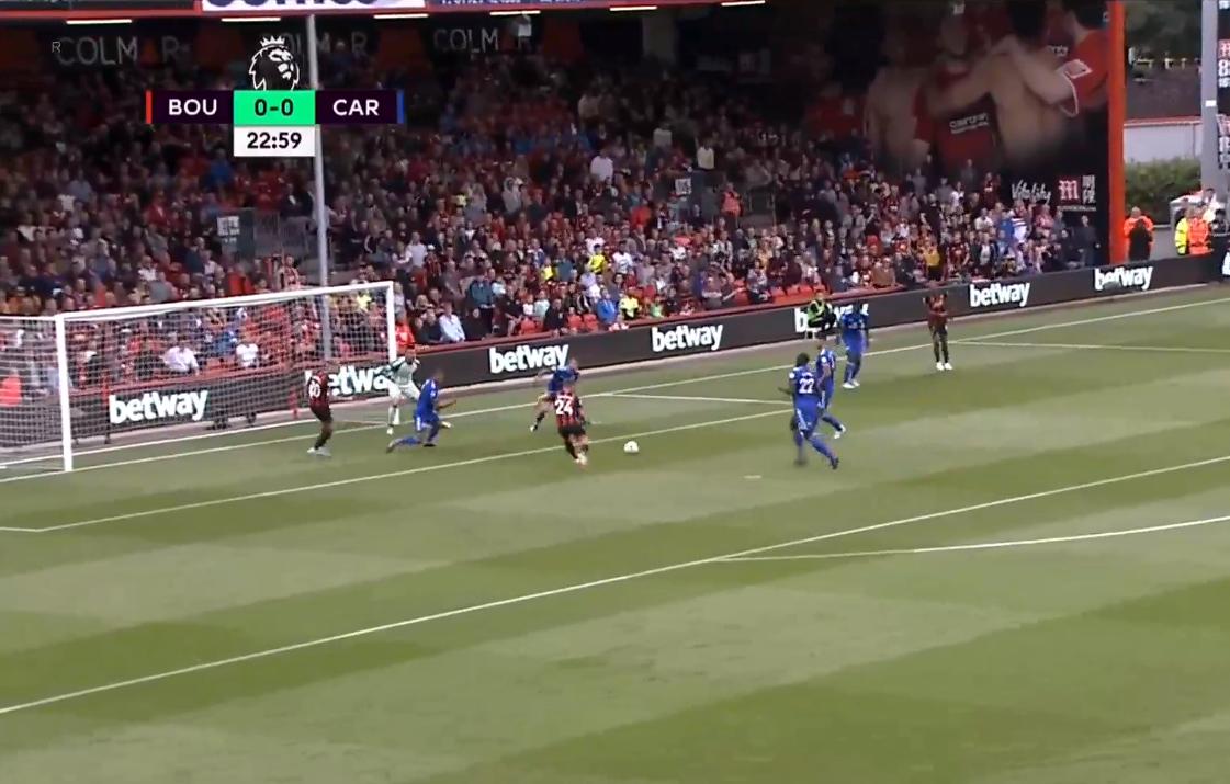 Ryan Fraser goal Bournemouth Cardiff Premier League 2018-19
