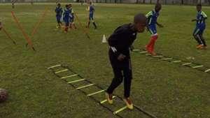 Young Bafana training