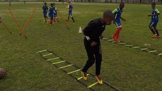 Young Bafana training