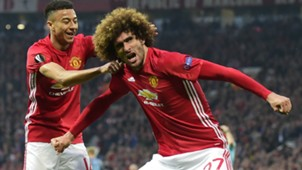 Marouane Fellaini Manchester United Europa League