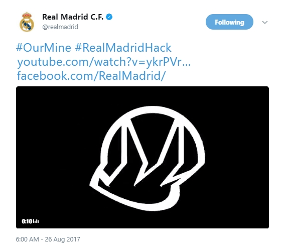 Real Madrid Twitter Hack 2
