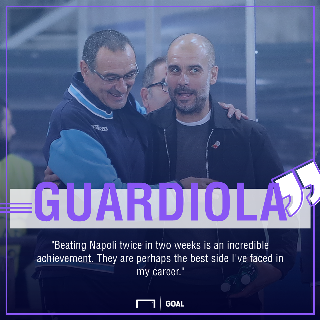 Pep quote on Napoli gfx