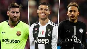 Lionel Messi, Cristiano Ronaldo, Neymar