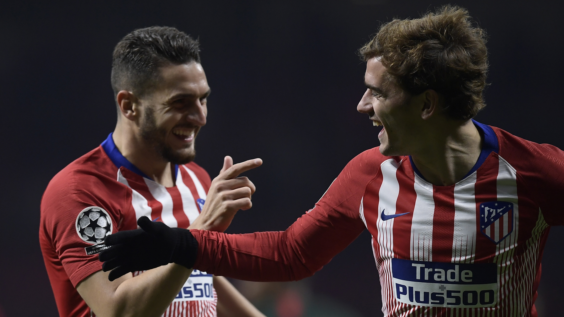 Koke Griezmann Atletico Madrid AS Monaco 28112018