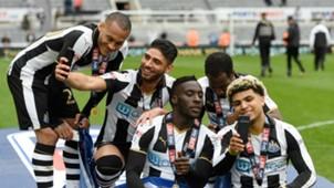 Newcastle celebrates Championship 050717