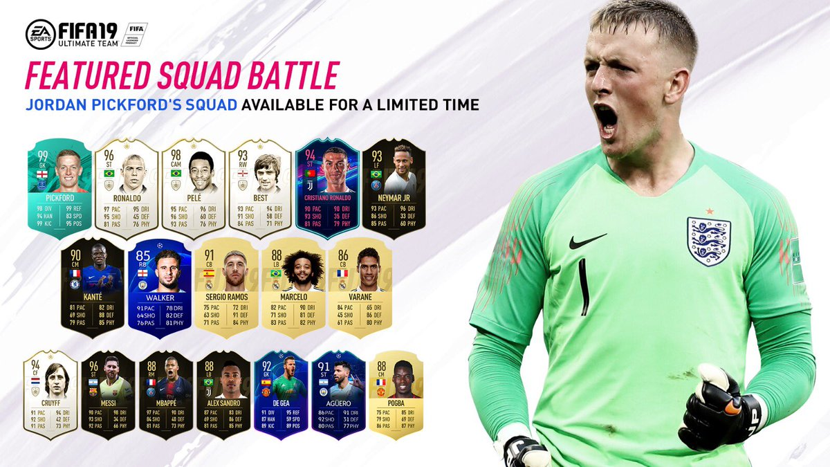 Pickford FIFA team