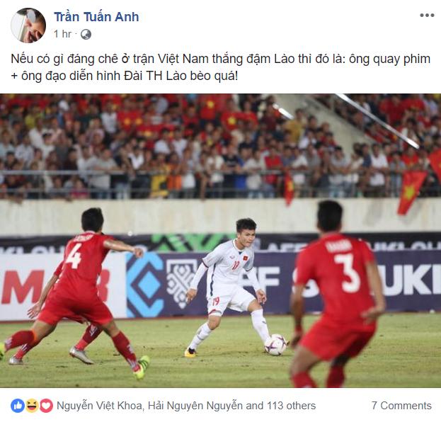 Phản ứng đạo diễn hình trận Lào - Việt Nam 7