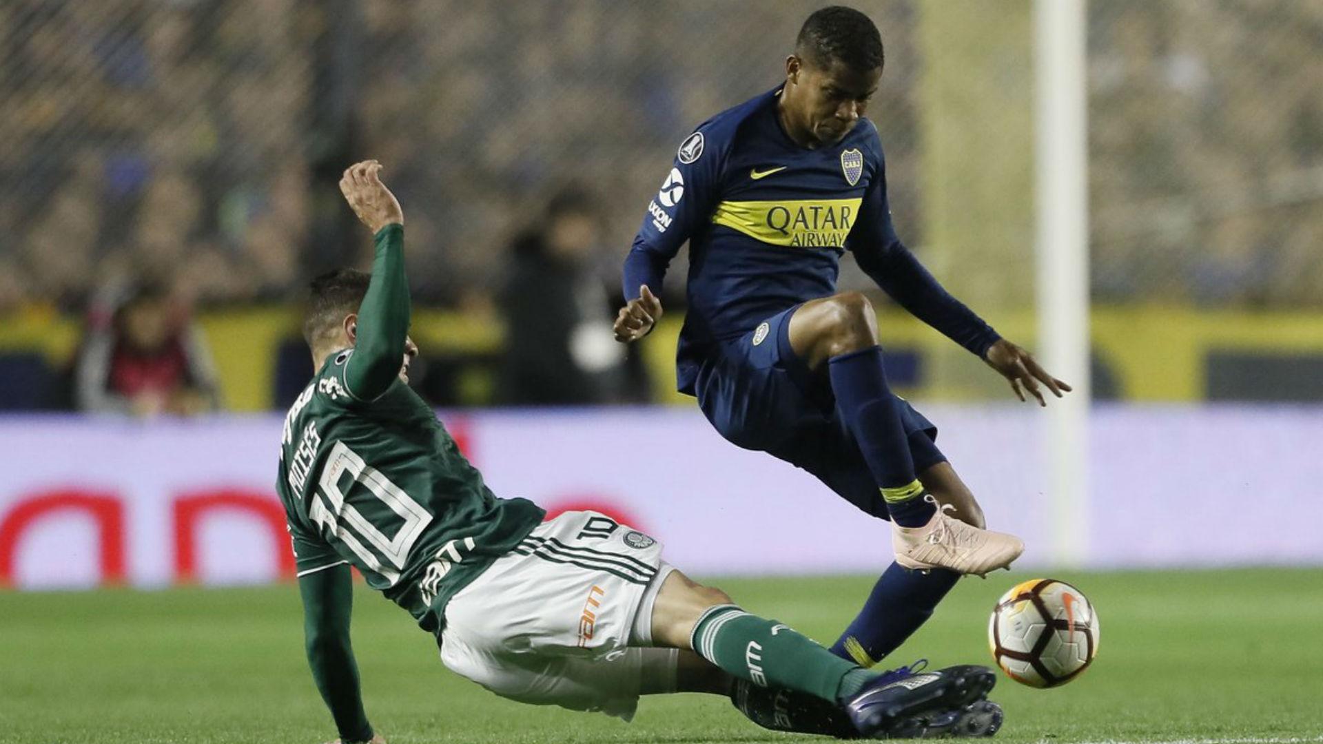 Moises Wilmar Barrios Boca Palmeiras Copa Libertadores Semifinal Ida 24102018