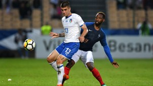 Moussa Dembelè Gianluca Mancini France Under 21 Italy Under 21