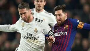 Sergio Ramos Lionel Messi Real Madrid Barcelona 2018-19