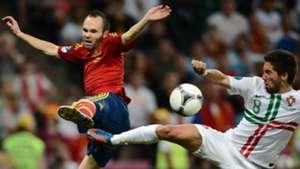 Andres Iniesta Spain Portugal Euro 2012