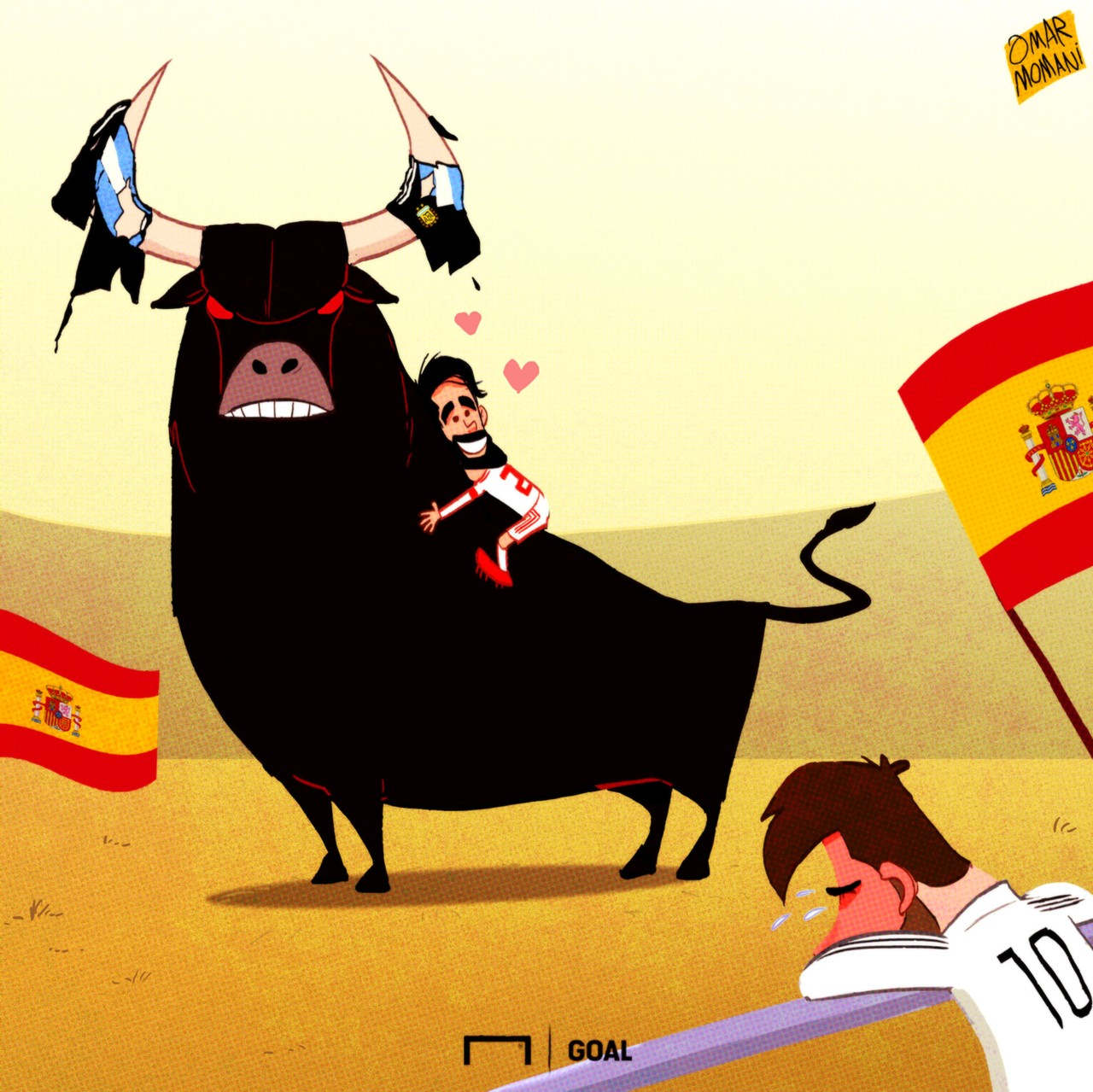 Spain Argentina Cartoon