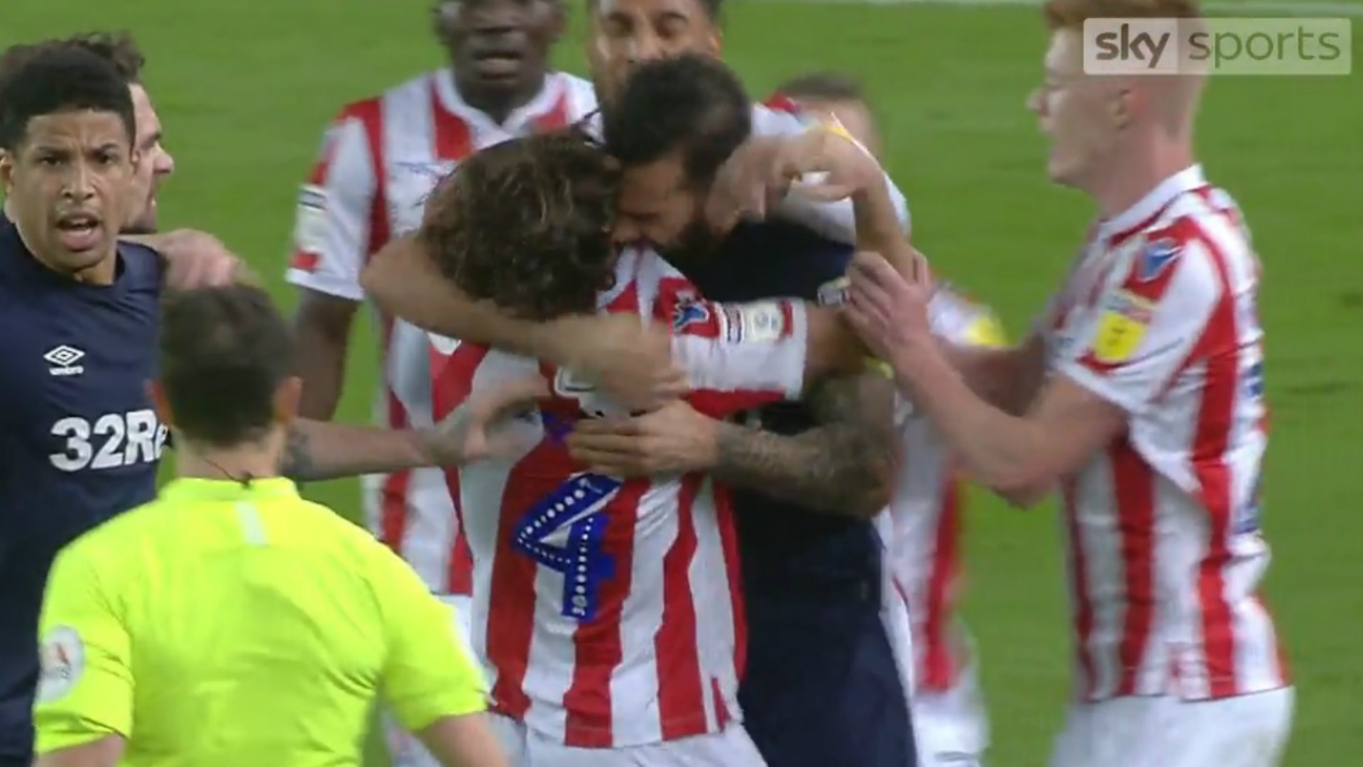 EMBED ONLY Bradley Johnson Joe Allen Derby County Stoke City screenshot