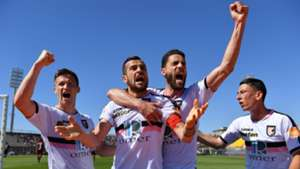 Ilija Nestorovski celebrating Livorno Palermo Serie B 04272019